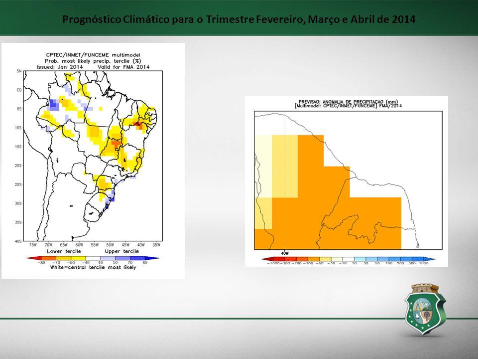 Prognóstico Climático para o Trimestre Fevereiro, Março e Abril de 2014