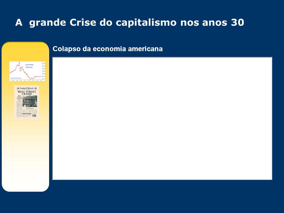 A grande Crise do capitalismo nos anos 30 Colapso da economia americana