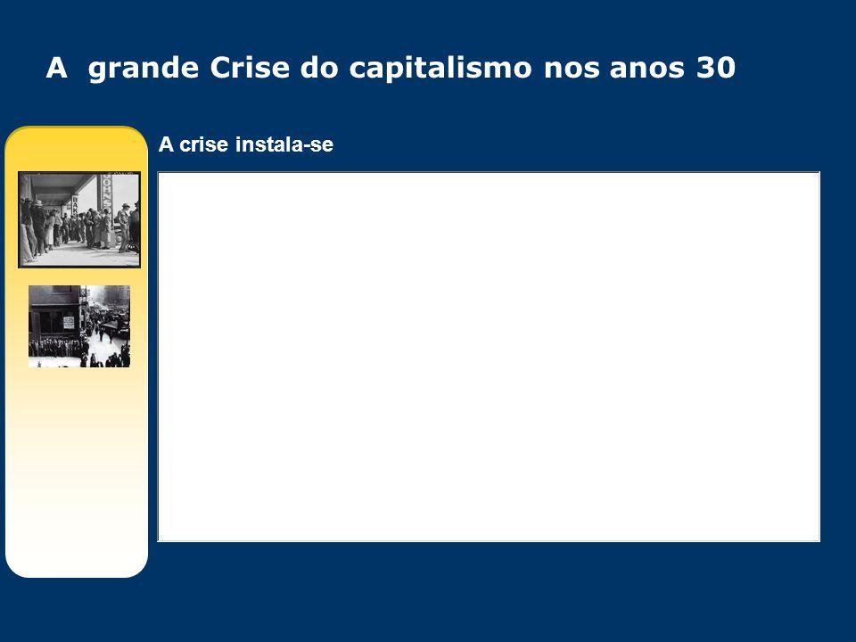 A crise instala-se A grande Crise do capitalismo nos anos 30