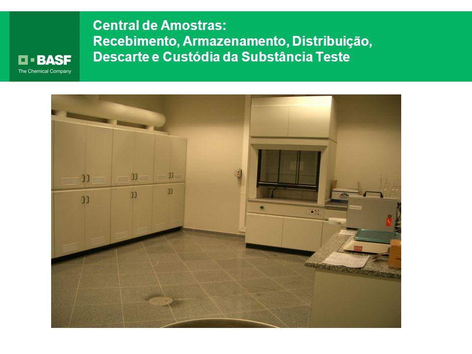 Central de Amostras: Recebimento, Armazenamento, Distribuição, Descarte e Custódia da Substância Teste