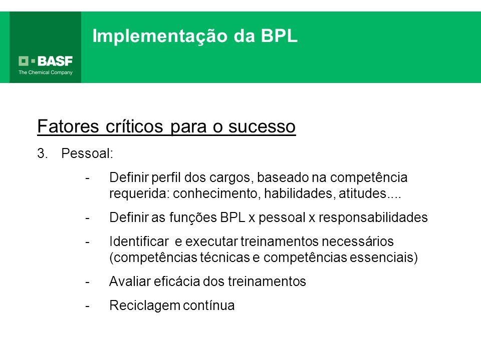 Fatores críticos para o sucesso 3.Pessoal: -Definir perfil dos cargos, baseado na competência requerida: conhecimento, habilidades, atitudes.... -Defi