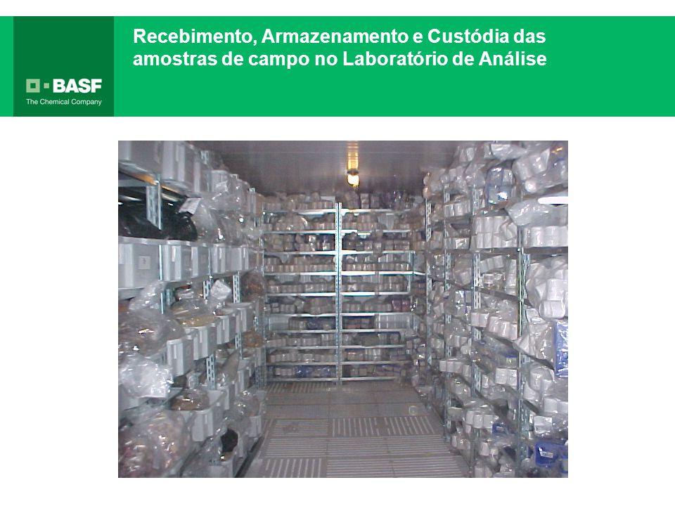 Recebimento, Armazenamento e Custódia das amostras de campo no Laboratório de Análise