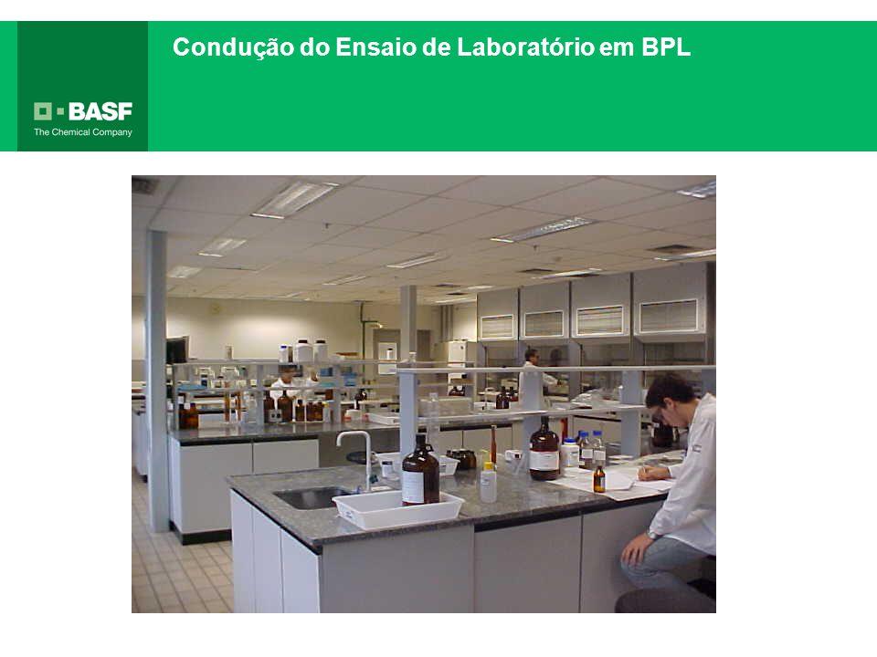 Condução do Ensaio de Laboratório em BPL