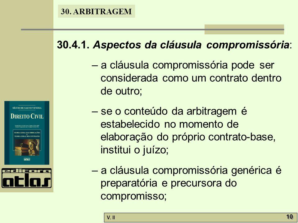 30. ARBITRAGEM V. II 10 30.4.1.