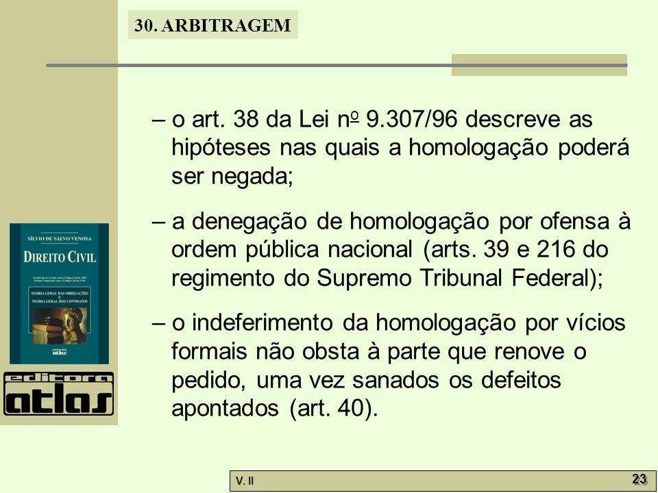 30. ARBITRAGEM V. II 23 – o art.