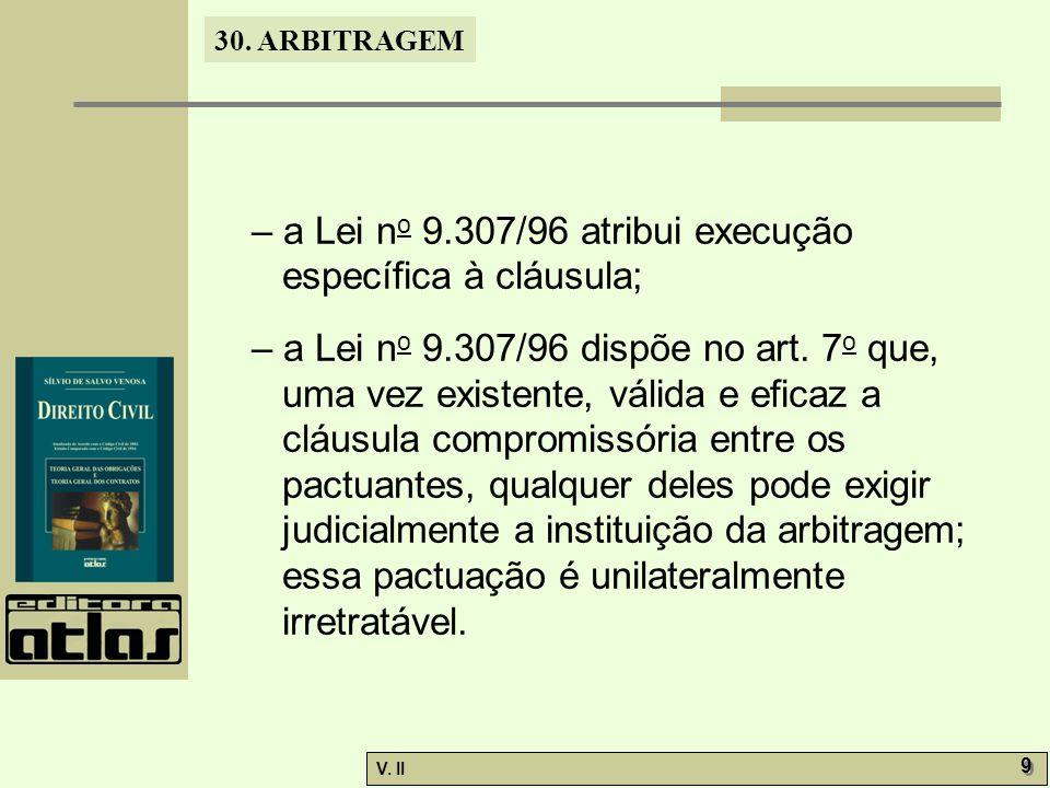 30. ARBITRAGEM V.