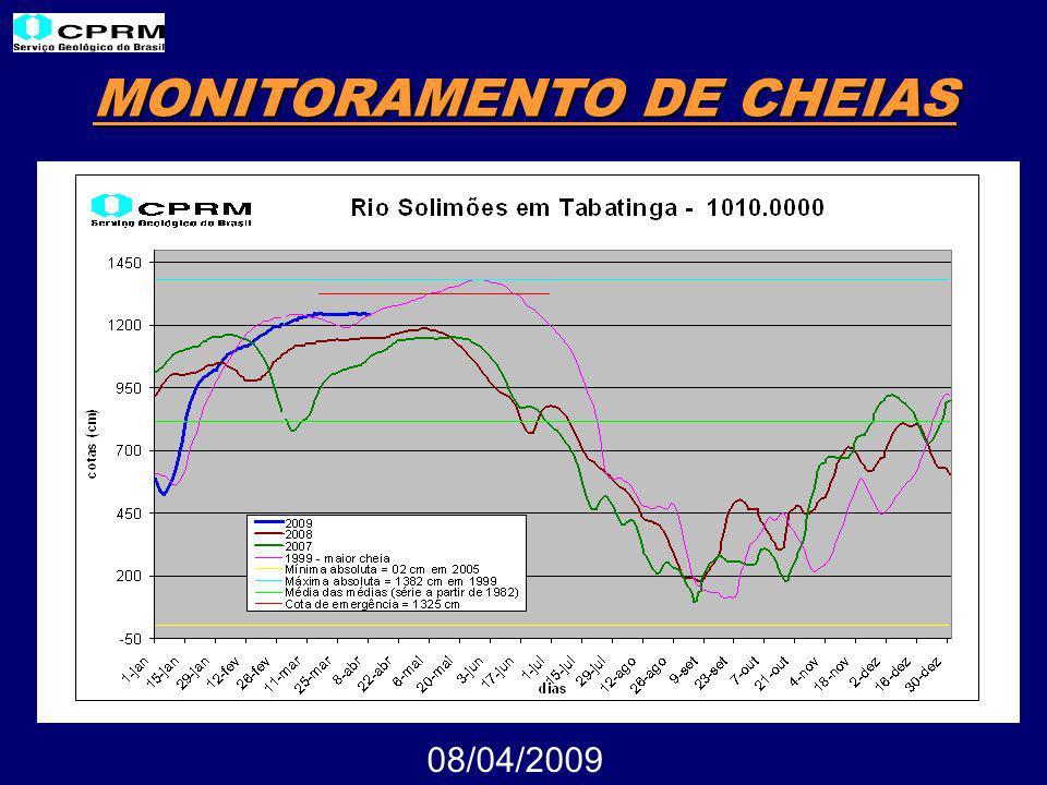 MONITORAMENTO DE CHEIAS 08/04/2009