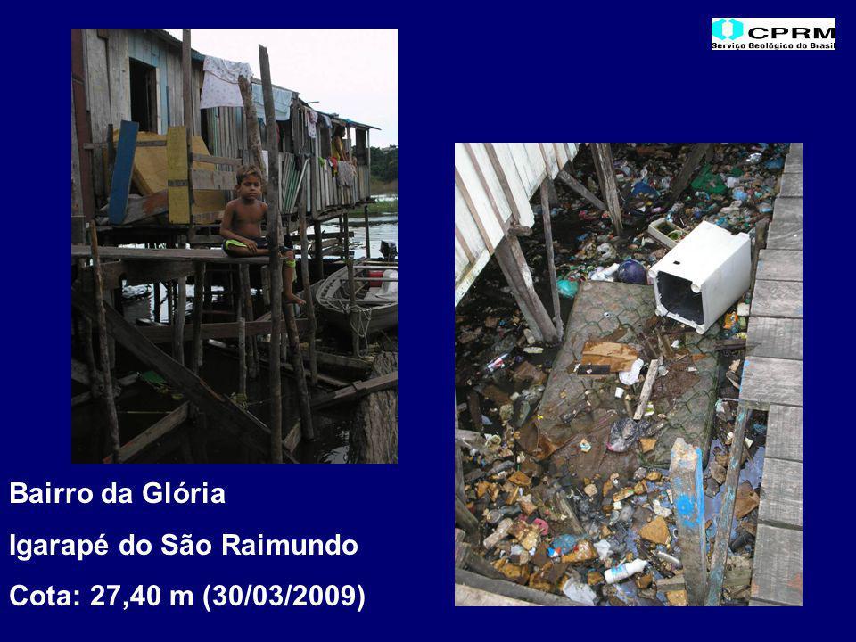 Bairro da Glória Igarapé do São Raimundo Cota: 27,40 m (30/03/2009)