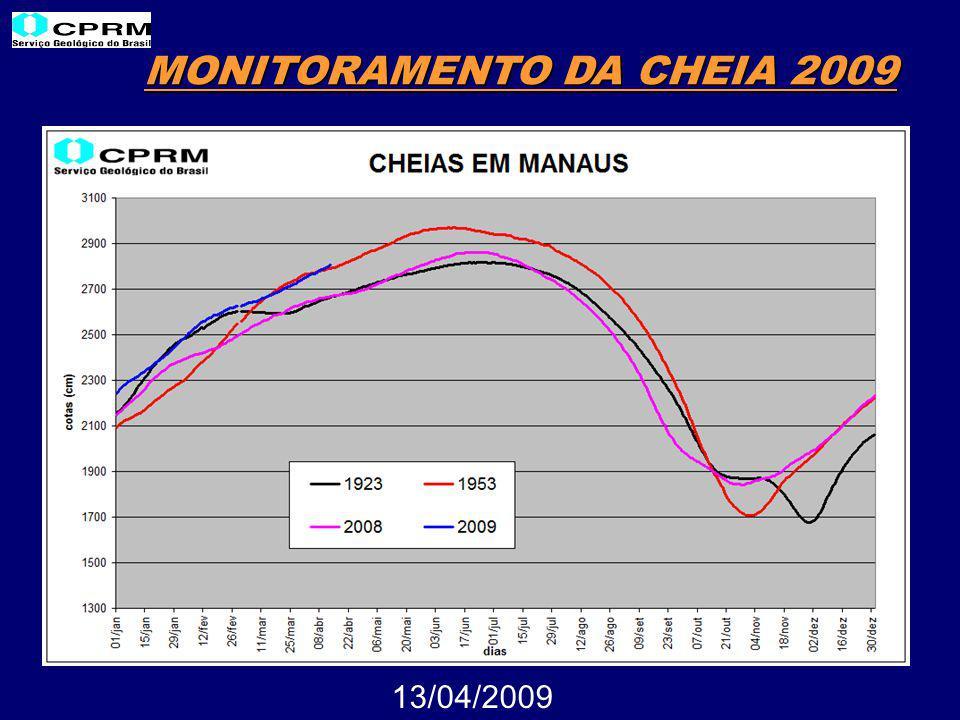 MONITORAMENTO DA CHEIA 2009 13/04/2009