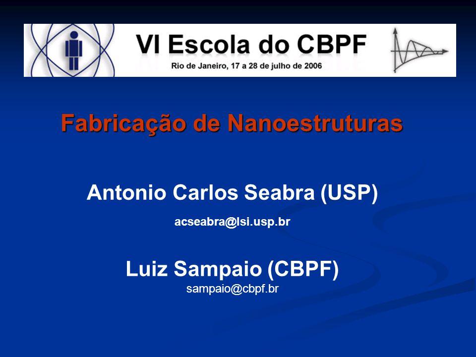 Fabricação de Nanoestruturas Antonio Carlos Seabra (USP) acseabra@lsi.usp.br Luiz Sampaio (CBPF) sampaio@cbpf.br
