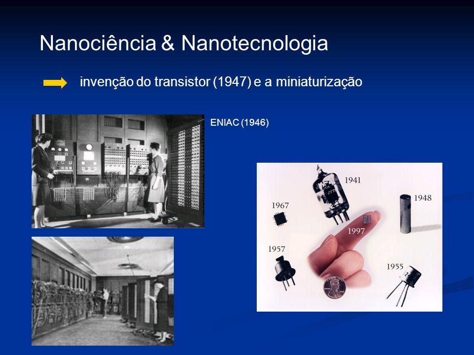 invenção do transistor (1947) e a miniaturização Nanociência & Nanotecnologia ENIAC (1946)