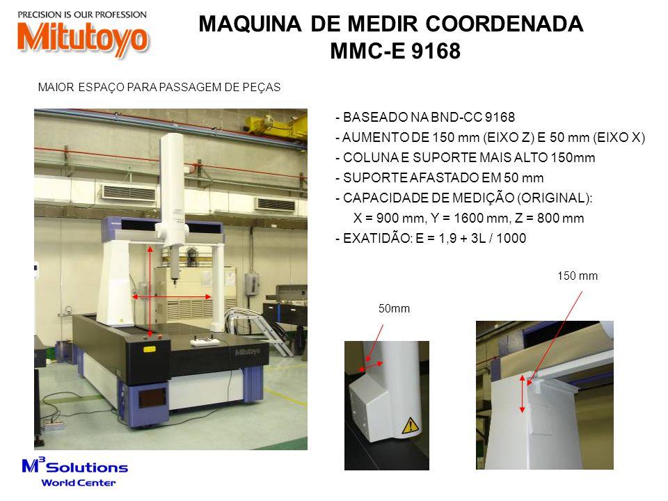 MAQUINA DE MEDIR COORDENADA TIPO GANTRY - MMC-E 20408 - BASEADO NA SERIE BND-CC9106 - GUIA Y EM GRANITO - MOVIMENTO DOS EIXOS X, Y, Z AXIS DESLIZAM SOBRE INJETORES DE AR - CAPACIDADE DE MEDIÇÃO: X = 2000 mm, Y = 4000 mm, Z = 800 mm - PESO: 10000 Kgf - EXATIDÃO: E = 12 + 12L / 1000