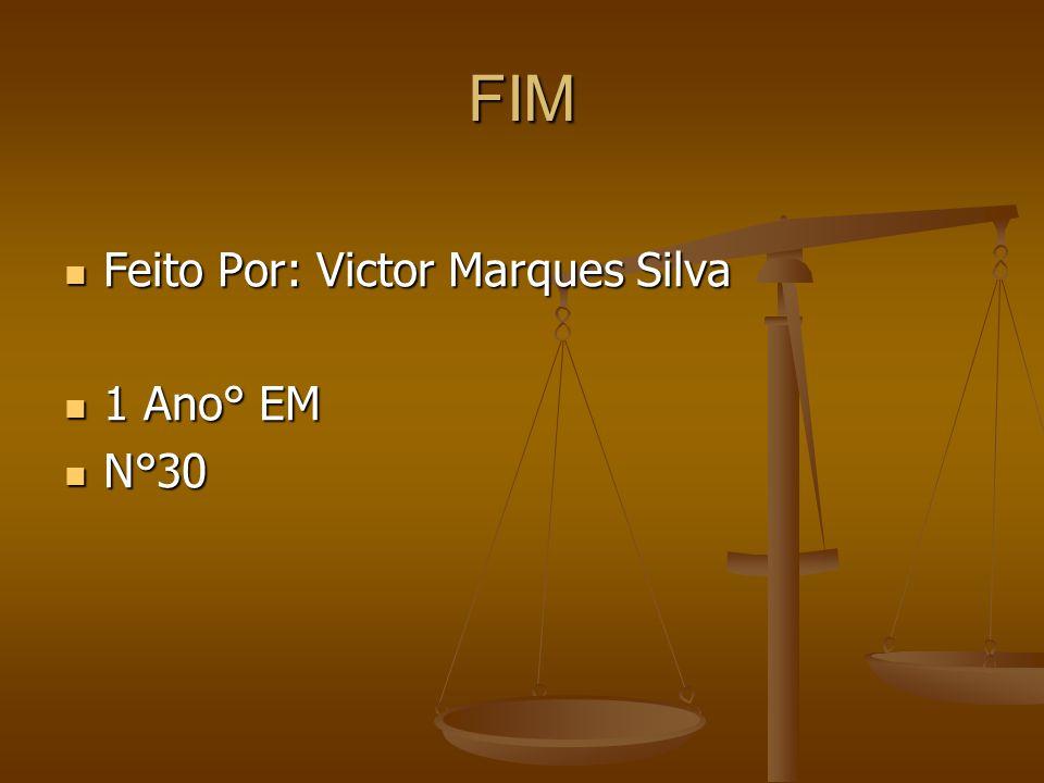 FIM Feito Por: Victor Marques Silva Feito Por: Victor Marques Silva 1 Ano° EM 1 Ano° EM N°30 N°30