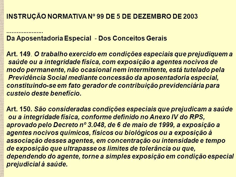 INSTRUÇÃO NORMATIVA Nº 99 DE 5 DE DEZEMBRO DE 2003......................