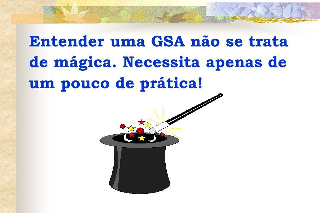 Entender uma GSA não se trata de mágica. Necessita apenas de um pouco de prática!