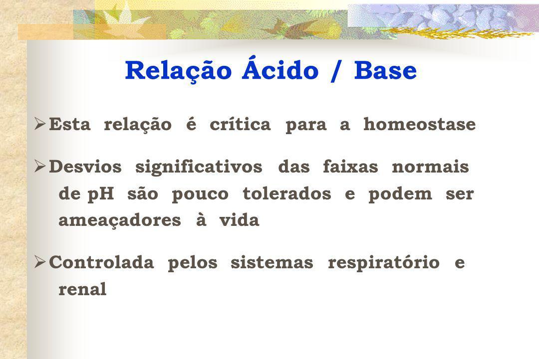Causas de Acidose Respiratória  DPOC  depressão respiratória (por anestésicos, overdose de drogas, TCE, AVC etc)  parada respiratória  obstrução de vias aéreas