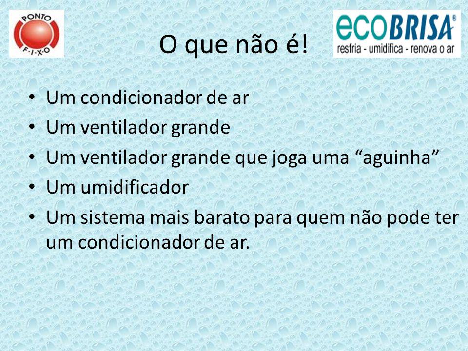 Modelo Vazão de ar (m³/h) Consumo elétrico (watts) Dimensões (cm) * Abertura na parede (cm) Peso (kg)Área máxima climatizada (m²)** Consumo de água (l/h por °C reduzido) EB-50 3.00011588x66x7159x593025 a 501,5 EB-80 5.00020893x93x6344x836030 a 802,5 EB-90 6.000208104 x 86 x 8282 x 736040 a 803,0 EB-100 6.000370118x93x7570x706050 a 1003,0 EBI-110 7.00025092 x 75 x 9244 x 533040 a 803,5 EB-150 10.000410122x125x8188x887575 a 1504,75 EBI-250 SL 14.0001.20087 x 103 x 14362 x 625580 a 2006,4 EBV-16 ABS 16.000800158x127x9092x9290120 a 2508,0 EBV-25 ABS 25.0001030174x127x8992x92120150 a 35012,5 EBV-35 ABS 35.000980175x156x127121x121150200 a 50017,5 EBV-38 Turbo ABS 38.0002.450174x157x127106x106165250 a 50019,0 EBV-42 ABS 42.0001.240188x158x127121x121165300 a 60021,0 EBI-300T 18.0001.30098x117x11772 x 7285100 a 3009,0 EB 350 Telhado 21.000950128 x 129 x 129 83 x 83120150 a 35010,5 EB 500 Telhado Turbo 38.0002.280148 x 148 x 148 106 x 106165200 a 50019,0 Especificações