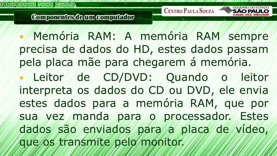 CD, possui armazenamento de até 700MB DVD, possui armazenamento que varia entre o máximo de 4,5 GB nos de camadas simples até 9GB nos de camada dupla Blu-ray, possui armazenamento que varia entre o máximo de 25GB nos de camadas simples e 50GB nos de camada dupla