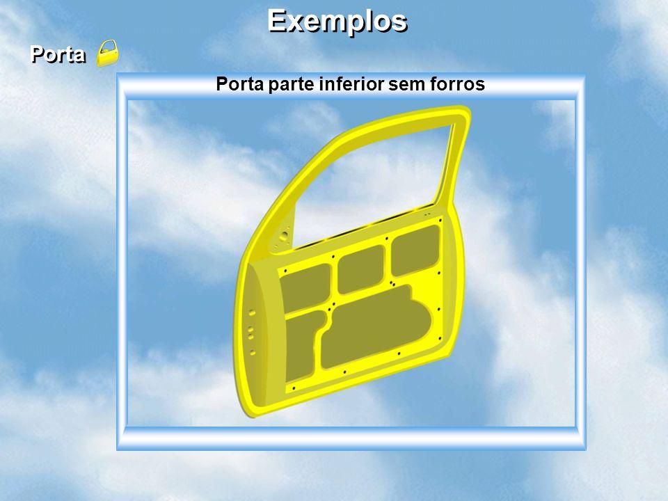 BOSCH Exemplos Porta Porta parte inferior sem forros