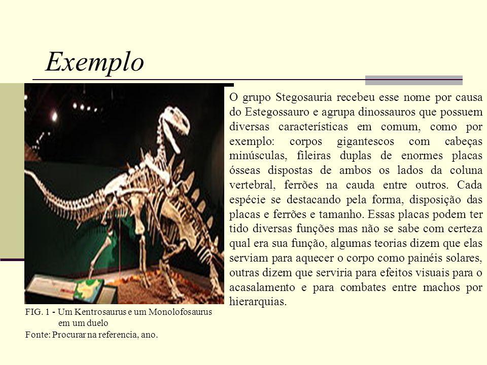 FIG. 1 - Um Kentrosaurus e um Monolofosaurus em um duelo Fonte: Procurar na referencia, ano.