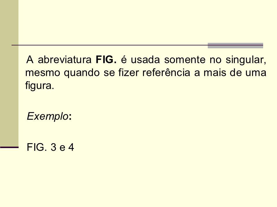 A abreviatura FIG.