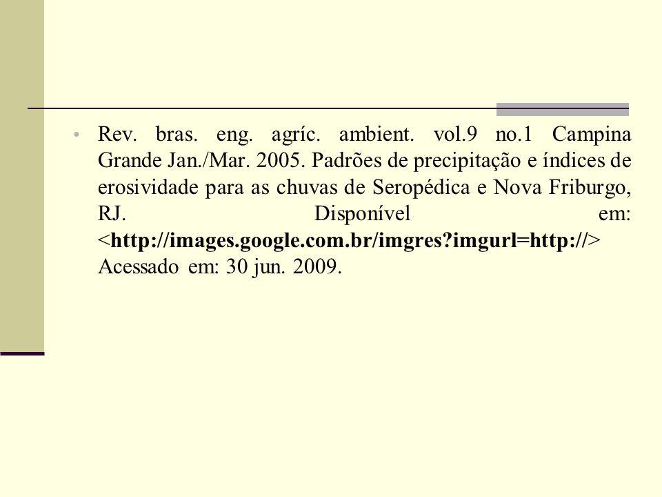 Rev. bras. eng. agríc. ambient. vol.9 no.1 Campina Grande Jan./Mar.