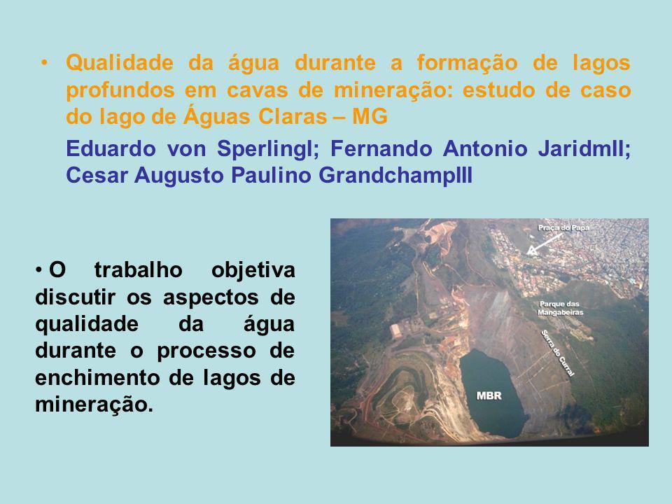 Qualidade da água durante a formação de lagos profundos em cavas de mineração: estudo de caso do lago de Águas Claras – MG Eduardo von SperlingI; Fern