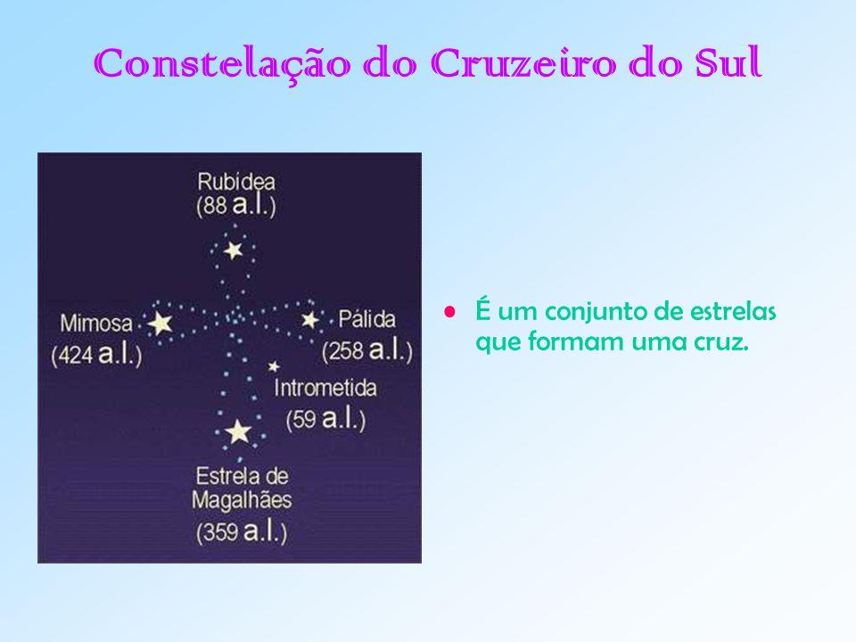 Constelação do Cruzeiro do Sul É um conjunto de estrelas que formam uma cruz.