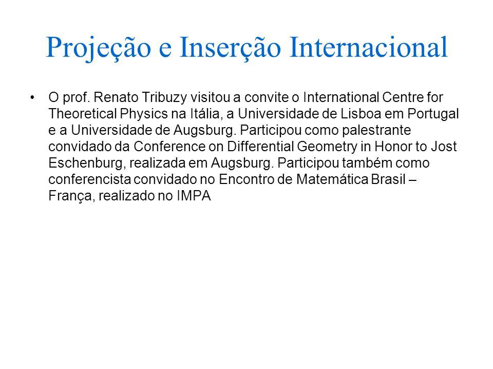 Projeção e Inserção Internacional O prof.