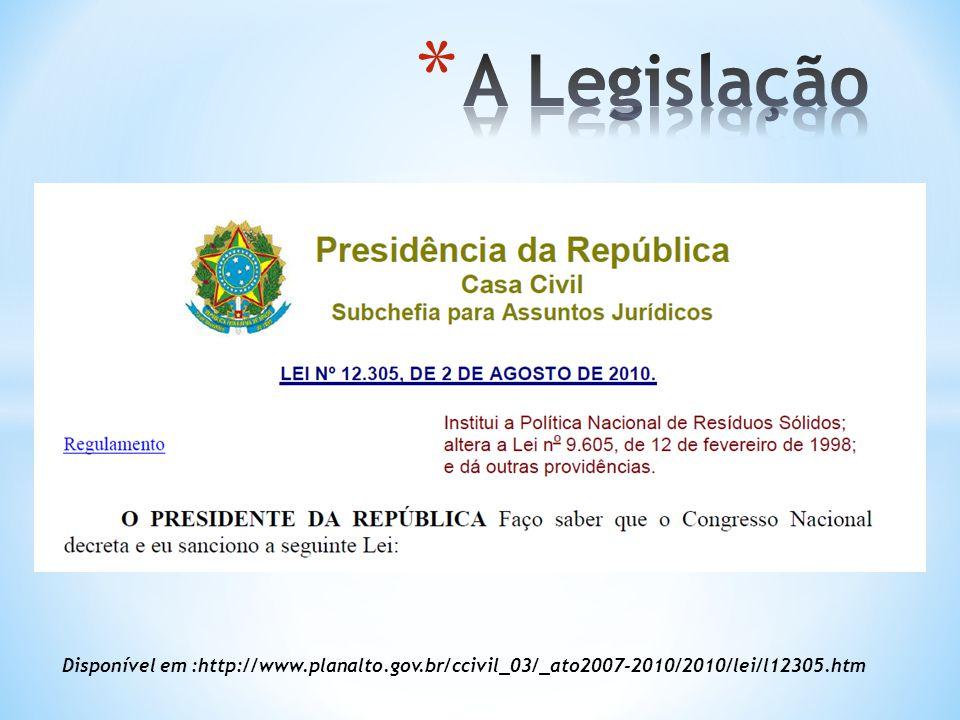 Disponível em :http://www.planalto.gov.br/ccivil_03/_ato2007-2010/2010/lei/l12305.htm