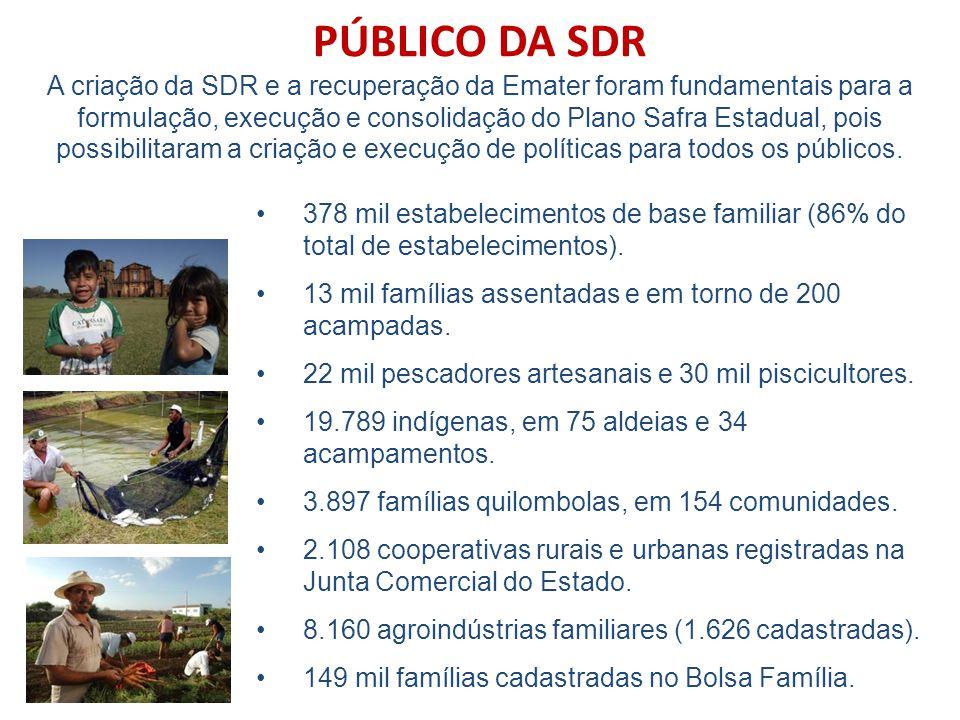 378 mil estabelecimentos de base familiar (86% do total de estabelecimentos).