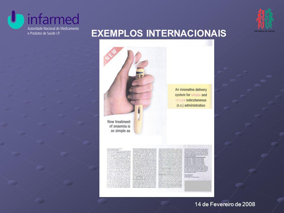 14 de Fevereiro de 2008 EXEMPLOS INTERNACIONAIS