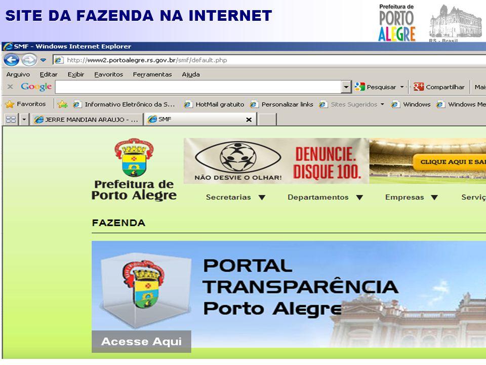 SITE DA FAZENDA NA INTERNET – ISSQN