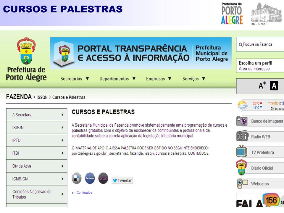 CURSOS E PALESTRAS - CONTEÚDOS