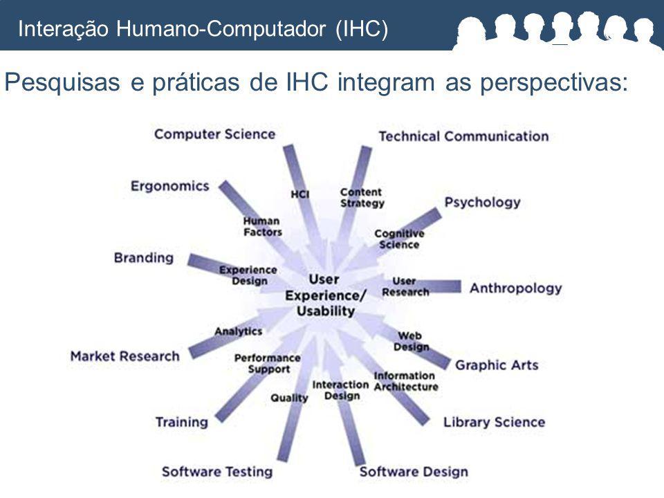 Pesquisas e práticas de IHC integram as perspectivas: Interação Humano-Computador (IHC)