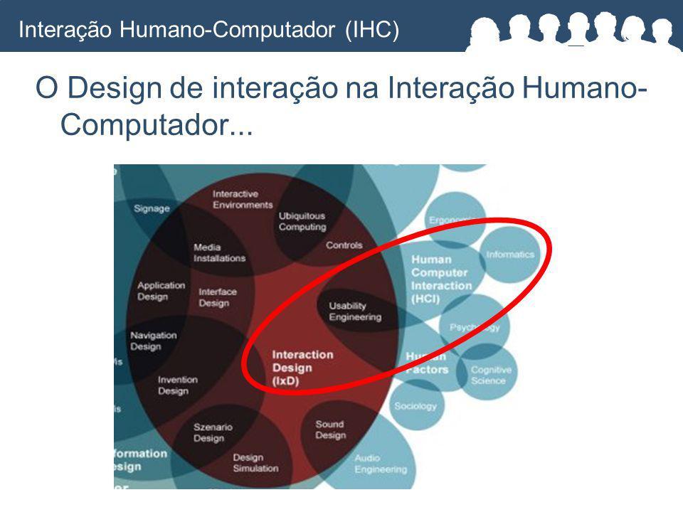 O Design de interação na Interação Humano- Computador... Interação Humano-Computador (IHC)