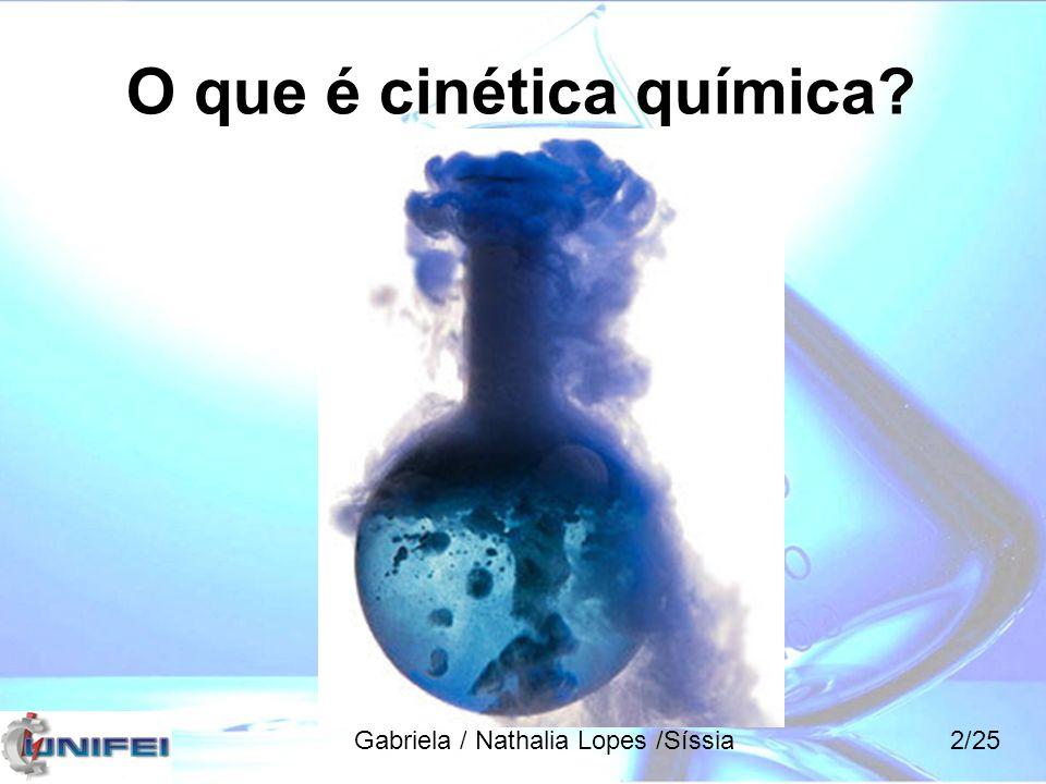 O que é cinética química? Gabriela / Nathalia Lopes /Síssia2/25