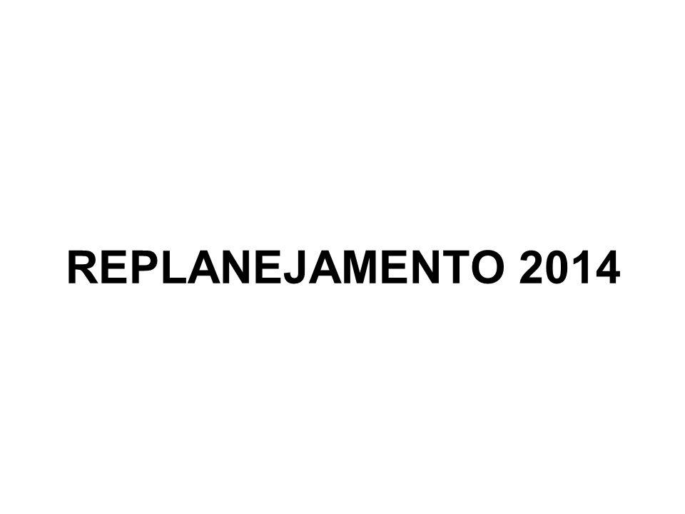 REPLANEJAMENTO 2014