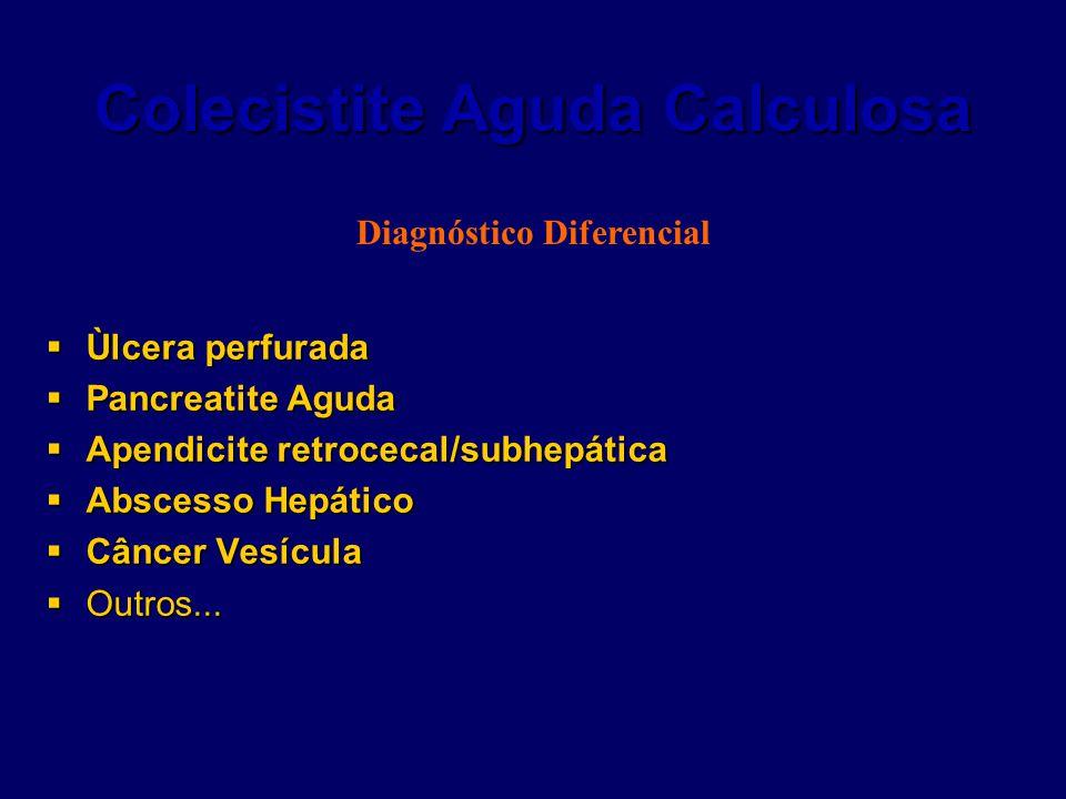 Colecistite Aguda Calculosa  Ùlcera perfurada  Pancreatite Aguda  Apendicite retrocecal/subhepática  Abscesso Hepático  Câncer Vesícula  Outros.