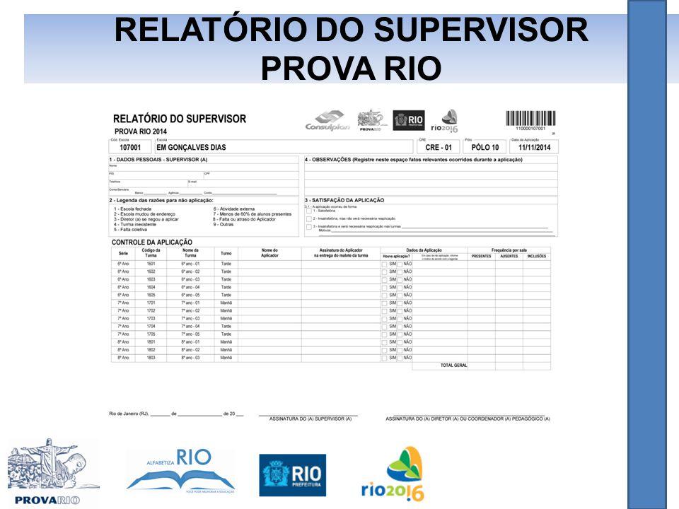 RELATÓRIO DO SUPERVISOR PROVA RIO