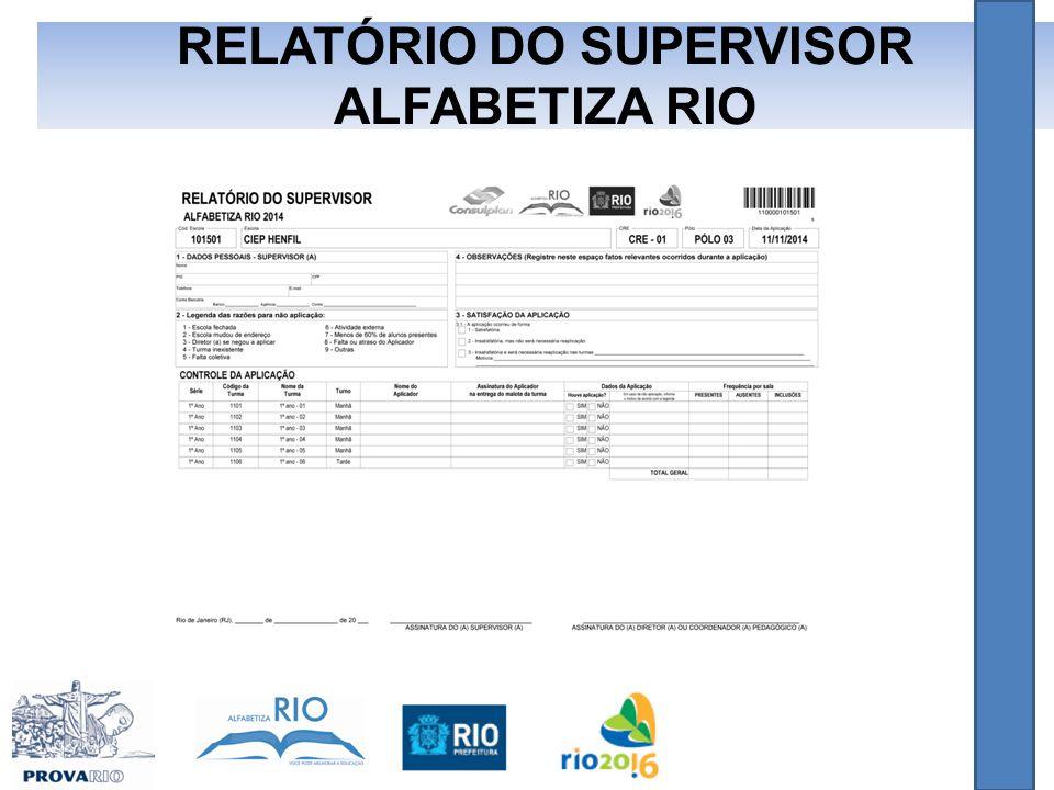RELATÓRIO DO SUPERVISOR ALFABETIZA RIO