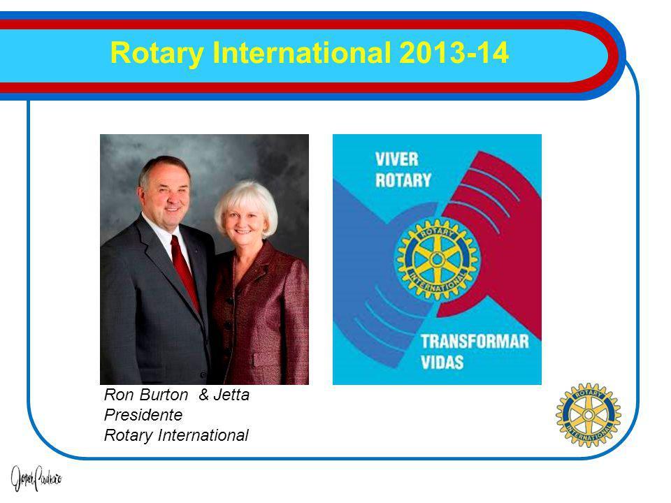 Rotary International 2013-14 Suely Manhães coordenadora Ron Burton & Jetta Presidente Rotary International