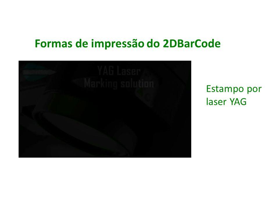 Estampo por laser YAG Formas de impressão do 2DBarCode