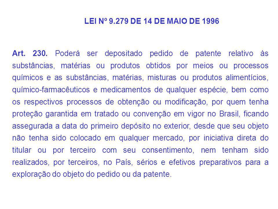 LEI Nº 9.279 DE 14 DE MAIO DE 1996 Art.230.