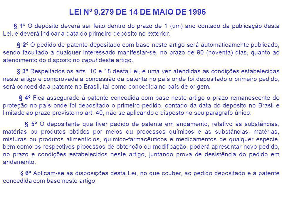 § 1º O depósito deverá ser feito dentro do prazo de 1 (um) ano contado da publicação desta Lei, e deverá indicar a data do primeiro depósito no exterior.