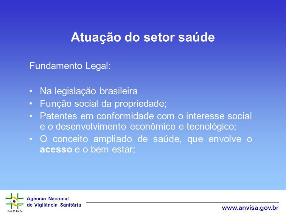 Agência Nacional de Vigilância Sanitária www.anvisa.gov.br TRIPS Art.