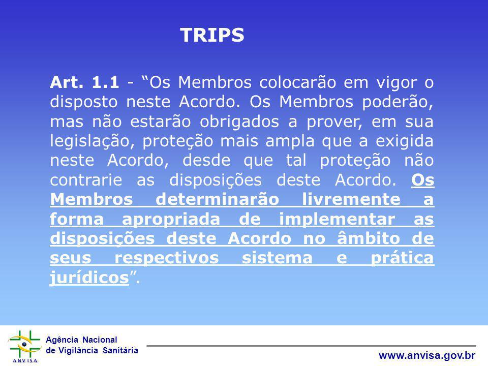 Agência Nacional de Vigilância Sanitária www.anvisa.gov.br Alguns casos de pedidos que foram não anuidos pela COOPI/ANVISA PI 9508789-3 – Taxotere – Tratamento de câncer PI 9507494-5 – Famvir e Denavir - Antiretroviral PI 9503468-0 – Valcyte – Antiviral (Citomegalovírus) PI 9510422-4 – Insulina para inalação