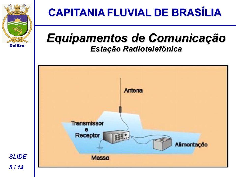 CAPITANIA FLUVIAL DE BRASÍLIA SLIDE 5 / 14 Equipamentos de Comunicação Estação Radiotelefônica