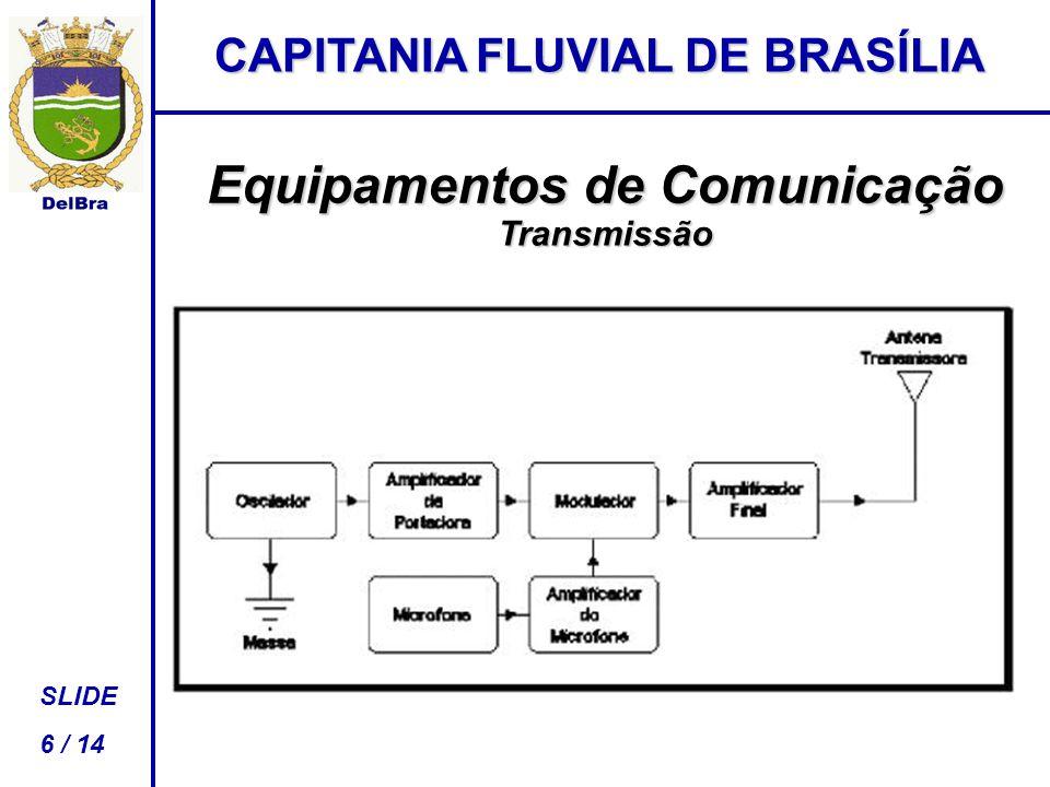 CAPITANIA FLUVIAL DE BRASÍLIA SLIDE 6 / 14 Equipamentos de Comunicação Transmissão