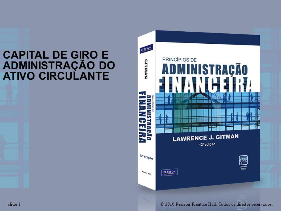 www.netofeitosa.com.br - contato@netofeitosa.com.br slide 1 CAPITAL DE GIRO E ADMINISTRAÇÃO DO ATIVO CIRCULANTE © 2010 Pearson Prentice Hall.